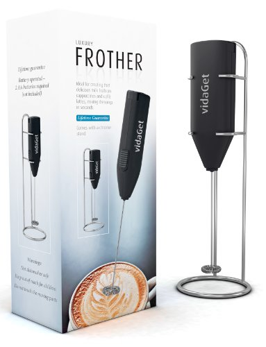 Reviews this milk frother black handheld latte and