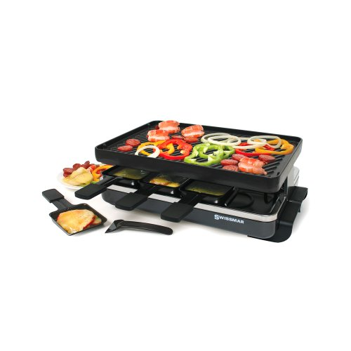 swissmar 8 person classic raclette with reversible cast. Black Bedroom Furniture Sets. Home Design Ideas