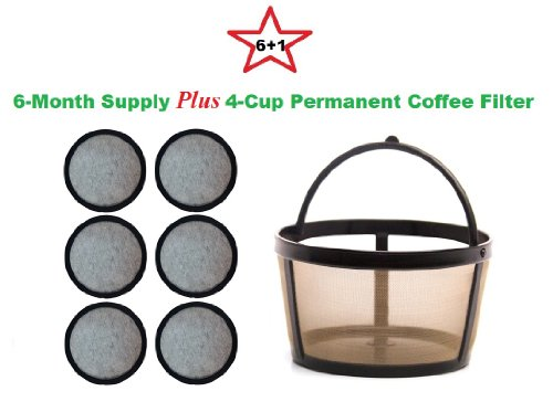Best reviews of 4-Cup Permanent Basket-Style Coffee Filter & A set of 6 Water Filters designed ...