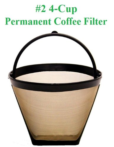 Reviews 4-Cup Cone Shape Permanent Coffee Filter fits Mr. Coffee 4 Cup Coffeemakers Coffee ...